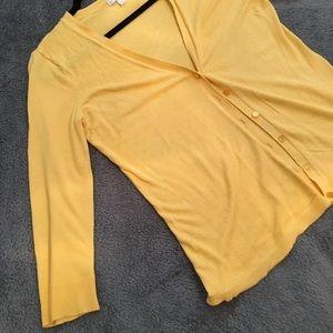 New York & Company yellow cardigan